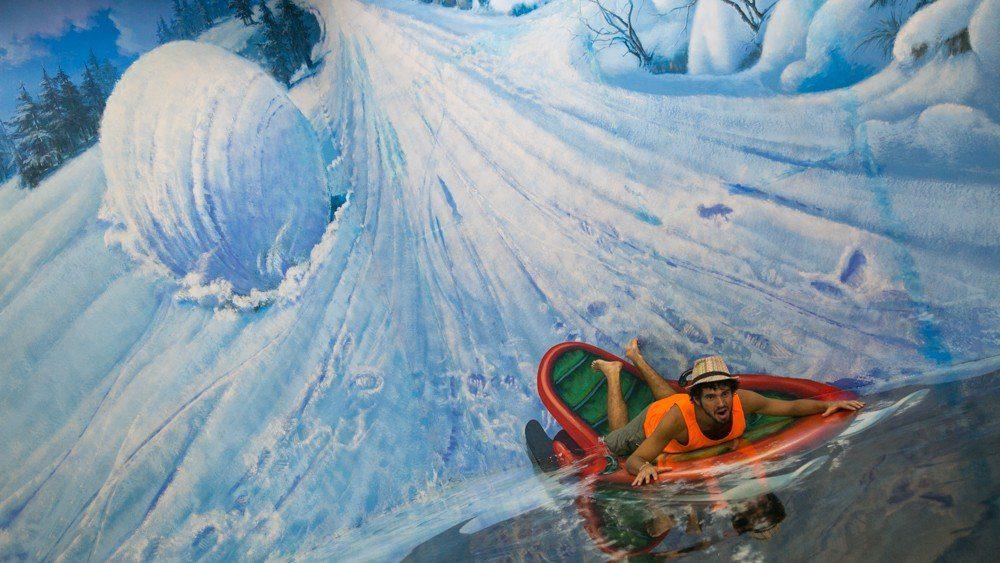 Snow sledding - Art in Island in Manila, Philippines