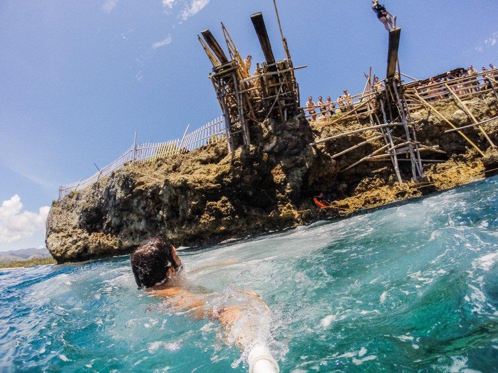 Cliff-Jumping at Magic Island - Boracay, Philippines